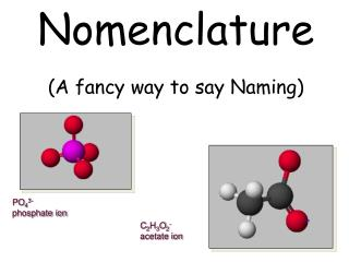 Nomenclature (A fancy way to say Naming)