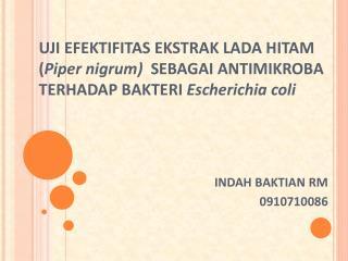 LATAR BELAKANG Escherichia coli