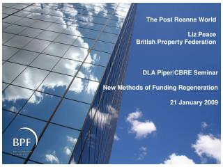 The Post  Roanne  World Liz Peace British Property Federation