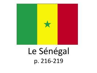 Le  Sénégal p . 216-219