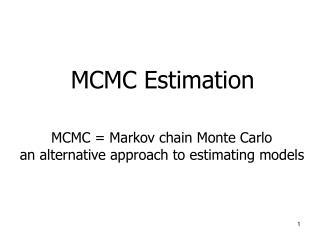 MCMC Estimation