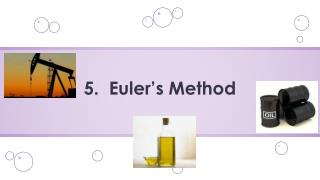 5.   Euler's Method