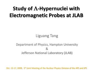 Study of   - Hypernuclei  with Electromagnetic Probes at JLAB