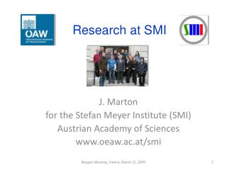 Research  at  SMI