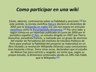 Como participar en una wiki