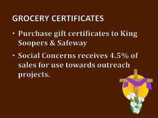 Grocery Certificates