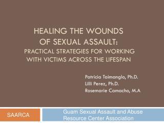 Patricia  Taimanglo , Ph.D. Lilli Perez, Ph.D. Rosemarie Camacho, M.A .