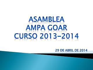 Asamblea Ampa goar Curso 2013-2014
