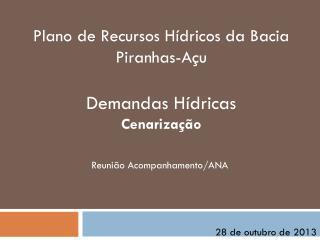 Plano de Recursos Hídricos da Bacia Piranhas-Açu Demandas Hídricas Cenarização