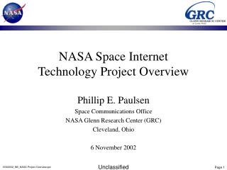 NASA Space Internet Technology Project Overview