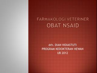 Farmakologi veteriner Obat nsaid