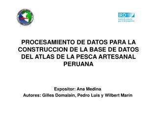 Expositor: Ana Medina Autores: Gilles Domalain, Pedro Luis y Wilbert  Marín