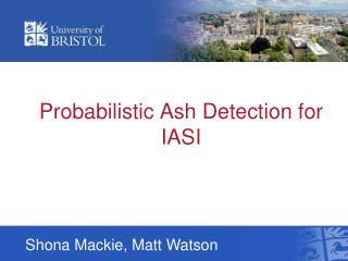 Probabilistic Ash Detection for IASI