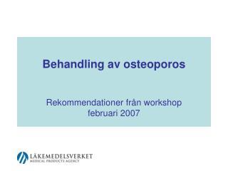 Behandling av osteoporos