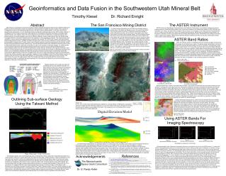 Geoinformatics and Data Fusion in the Southwestern Utah Mineral Belt