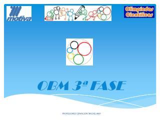 OBM  3ª FASE