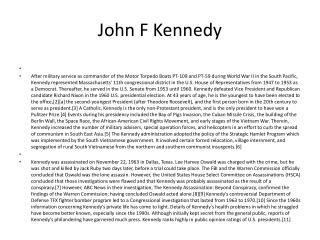 J ohn  F  Kennedy
