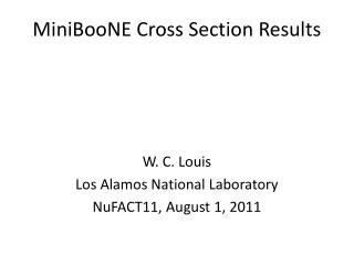 MiniBooNE  Cross Section Results