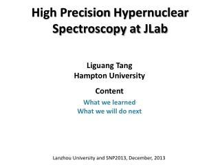 High Precision  Hypernuclear  Spectroscopy at  JLab
