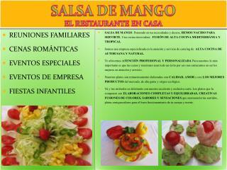 SALSA DE MANGO EL RESTAURANTE EN CASA