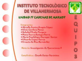 INSTITUTO TECNOLÒGICO  DE VILLAHERMOSA