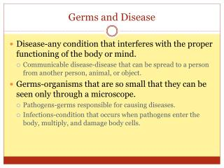 Germs and Disease
