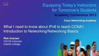 Equipping Today�s Instructors for Tomorrow�s Students