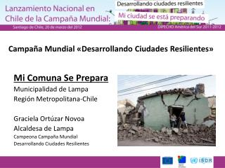 Campaña Mundial «Desarrollando Ciudades  Resilientes »