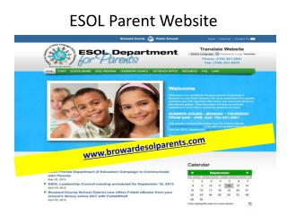 ESOL Parent Website