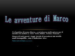 Le avventure di Marco