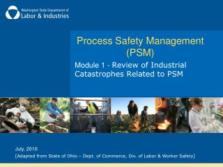 Process Safety Management PSM