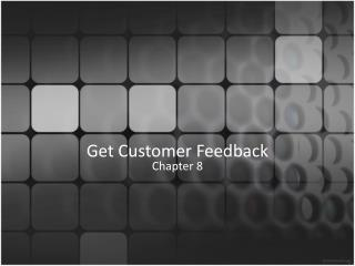 Get  Customer Feedback