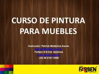 CURSO DE PINTURA PARA MUEBLES