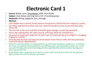 Electronic  Card  1