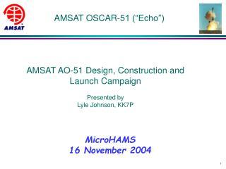 AMSAT OSCAR-51  Echo