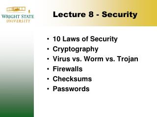 Lecture 8 - Security