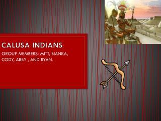 CALUSA INDIANS