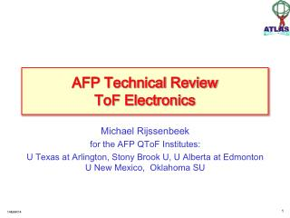 AFP Technical Review ToF Electronics