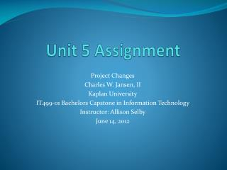 Unit 5 Assignment