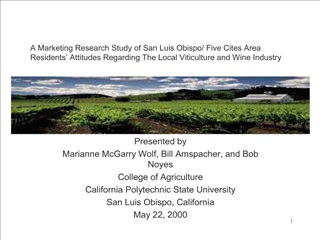 A Marketing Research Study of San Luis Obispo