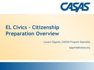 EL Civics � Citizenship Preparation Overview