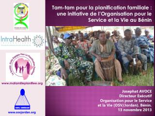 Josephat AVOCE Directeur Exécutif Organisation pour le Service  et la Vie (OSV/Jordan). Bénin.
