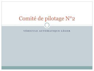 Comité de pilotage N°2