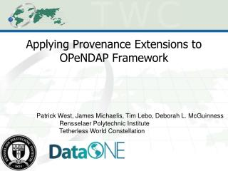 Applying Provenance Extensions to OPeNDAP Framework