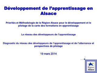 D�veloppement de l�apprentissage en Alsace