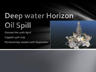 Deep water Horizon Oil Spill