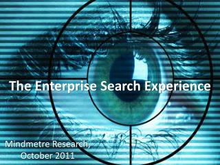 The Enterprise Search Experience