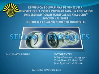 REPÚBLICA BOLIVARIANA DE VENEZUELA. MINISTERIO DEL PODER POPULAR PARA LA EDUCACIÓN