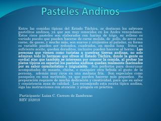 Pasteles Andinos