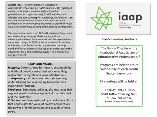 IAAP CORE VALUES